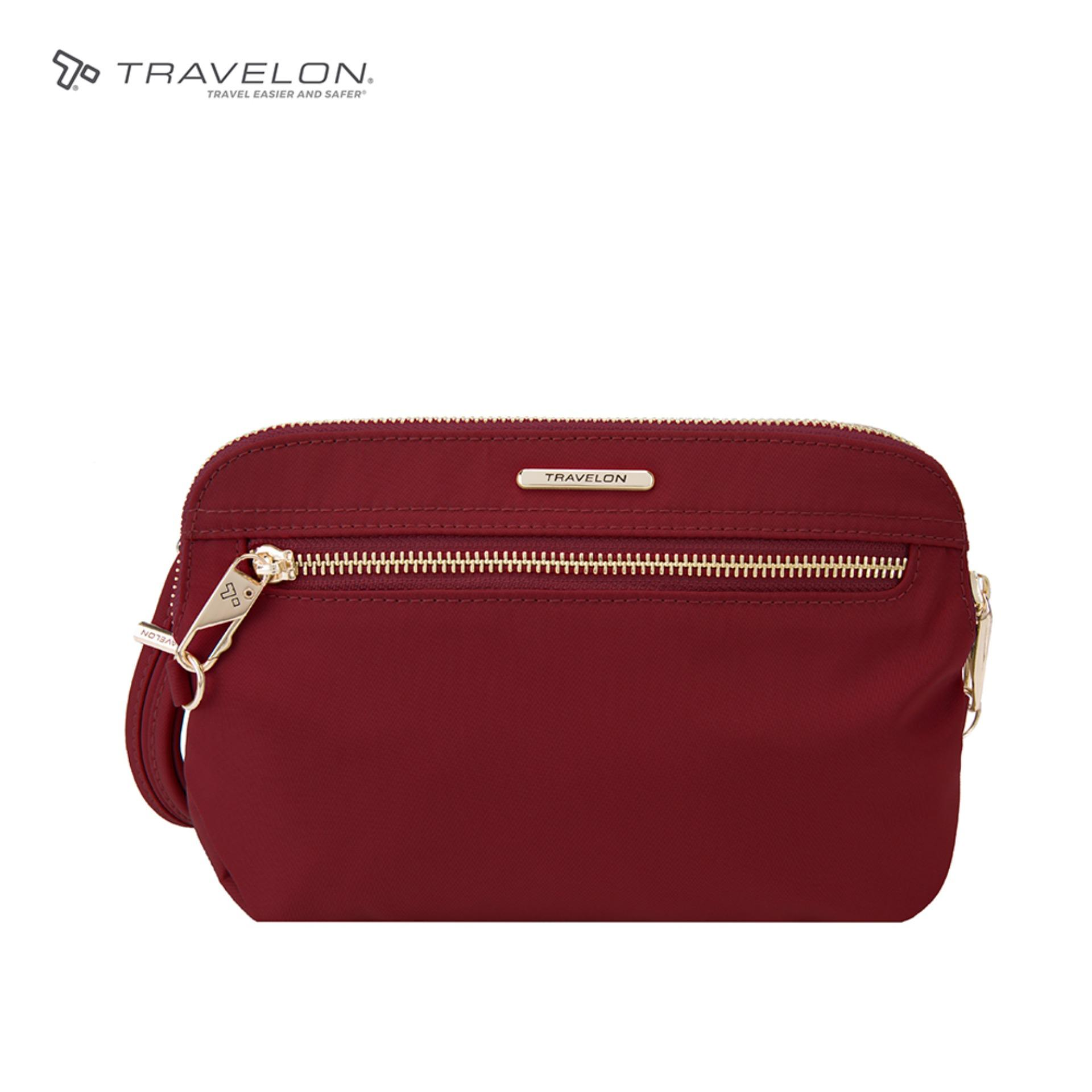 0fa9d56e9c51 Travelon Anti-Theft RFID Protected Tailored Travel Safety 3-way Convertible  Clutch Crossbody
