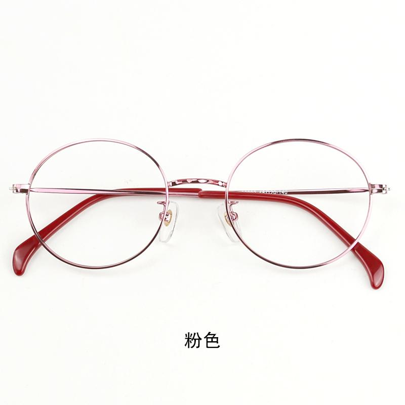 855c9609c43 Nearsighted Glasses women Korean Style Ultra-Light Glasses Frame Vintage round  Frame Glasses Plain Glasses