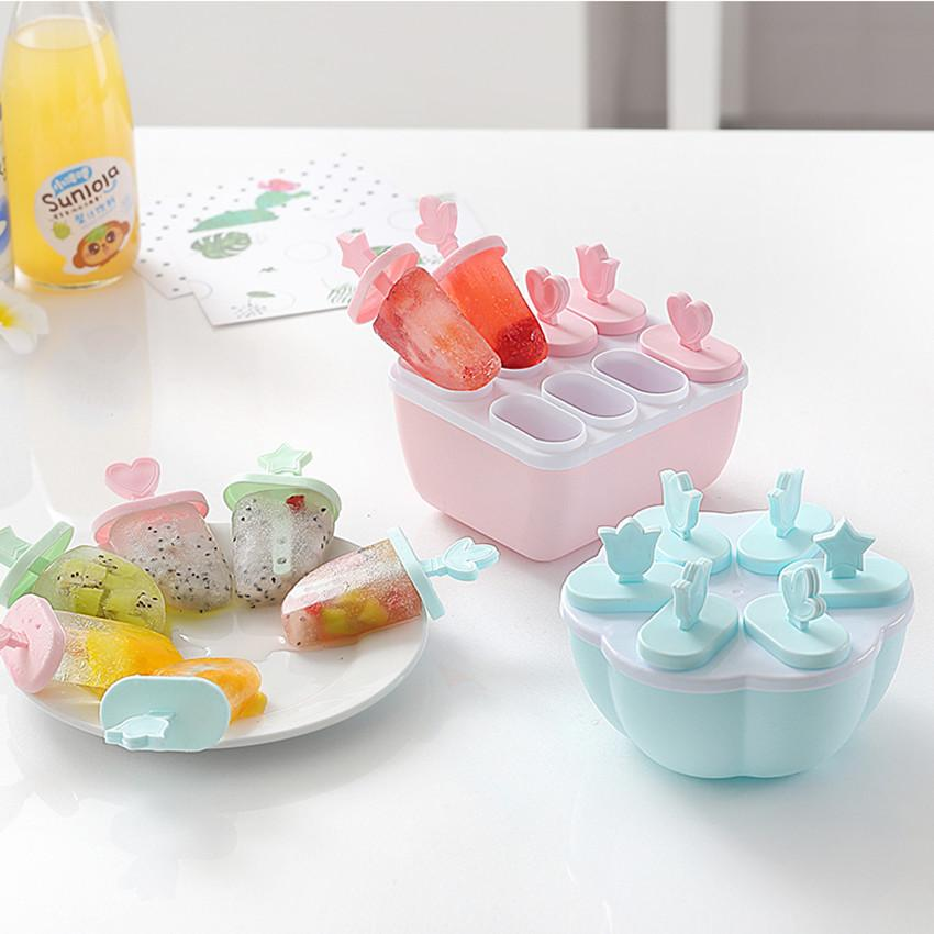 Candy Online New 8-Cell Reusable Mould Tray Diy Popsicle Ice Cream Maker Square By Candy Online Shop.