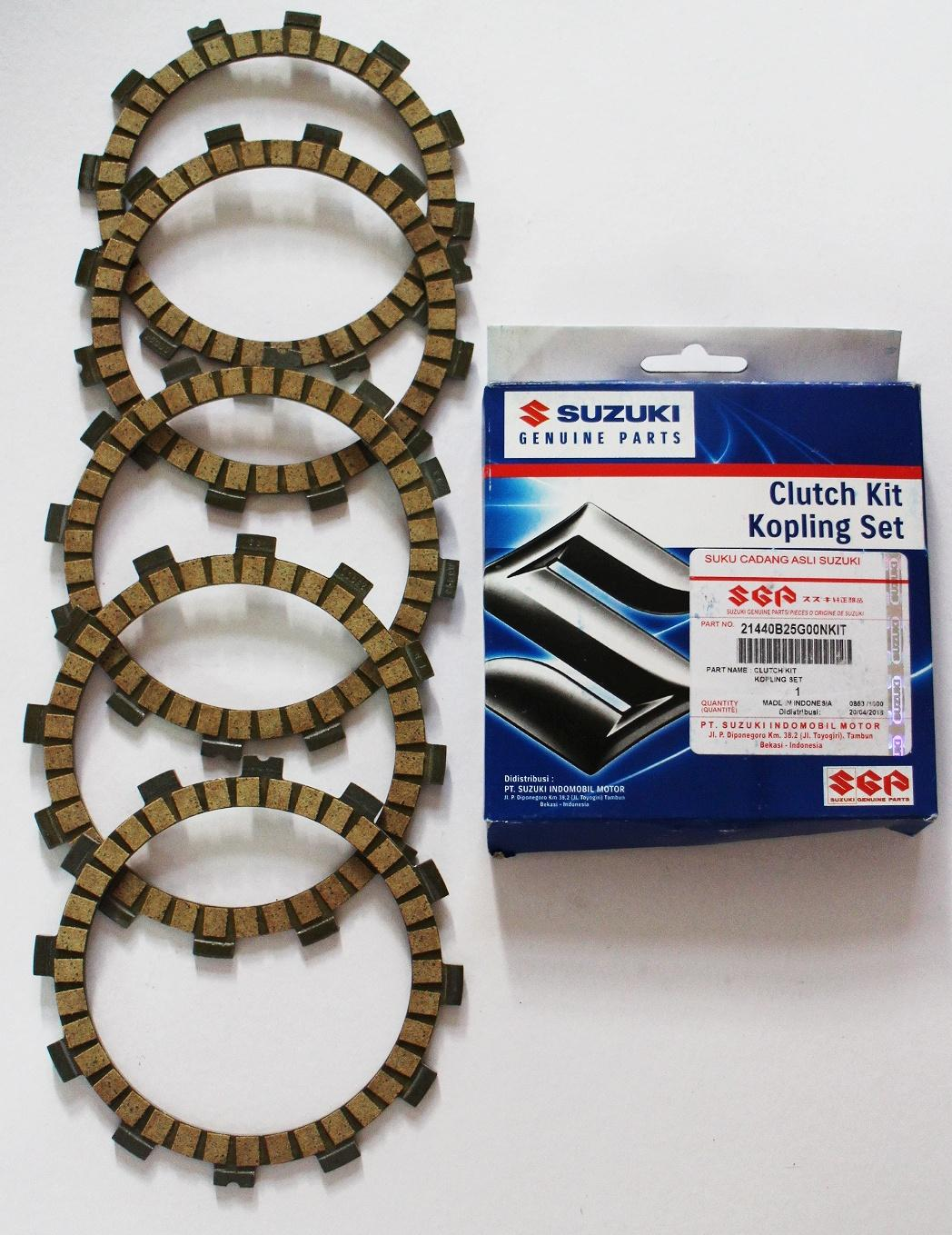 Original Suzuki Clutch Lining/clutch Kit Kopling Set (5 Pcs) For Raider 150 By Jca Motorshop.