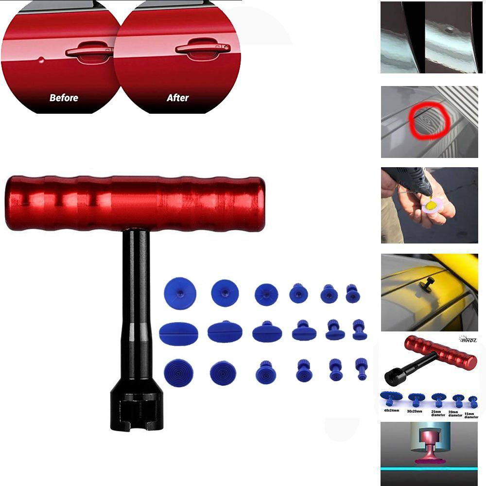 T-Bar Car Body Painless Dent Removal Pdr T-Bar Dent Puller Repair With 18pcs Suction Tab Tools Kits - Intl By Powerful-Enterprise.