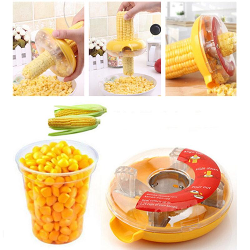 Fs Creative Corn Cob Remover Peeler Corn Thresher Stripper Cutter Kitchen Gadgets By Four Season Shop