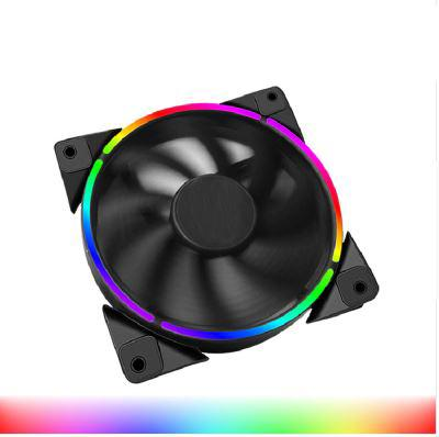 120mm Case Fan Halo Led Aura Steady Rgb Molex/3pin Quiet Suit For Cpu Cooler Water Cooling 120mm Computer Cooling Pc Fan By Jungletec.