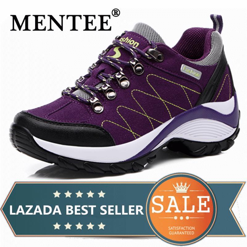 ffa91ec69f4e Philippines. MENTEE Waterproof Hiking Shoes Women Height Increasing  Climbing Mountain Shoes Women Leather Outdoor Hiking Boots