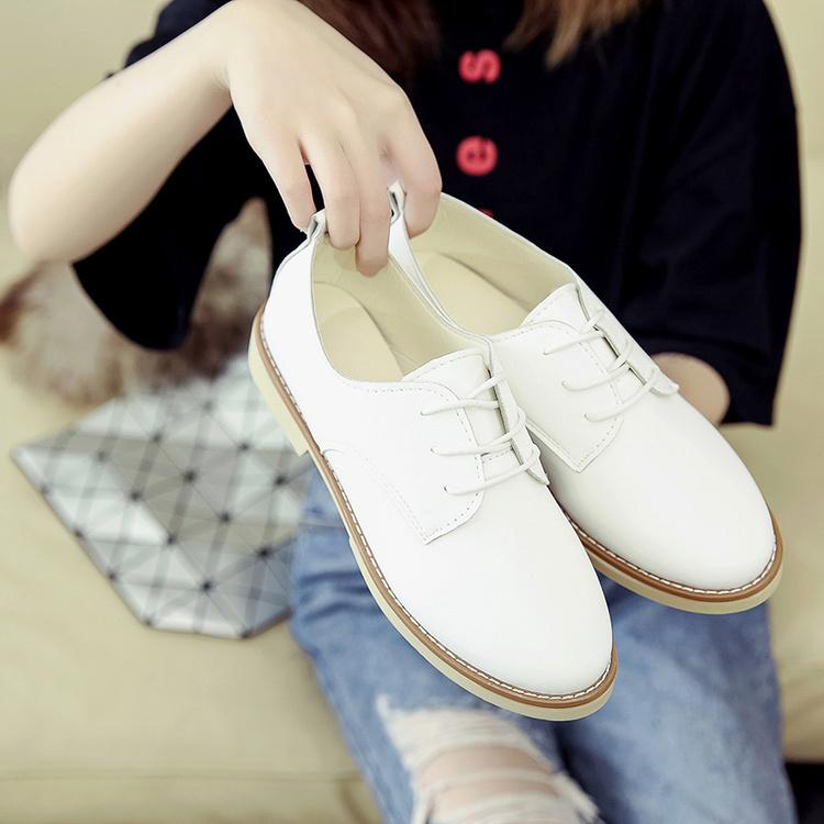 44c9b67a6a867b England women Shoes Harajuku Small Leather Shoes women 2018 Spring New  Style Shoes Versatile Flat Soft