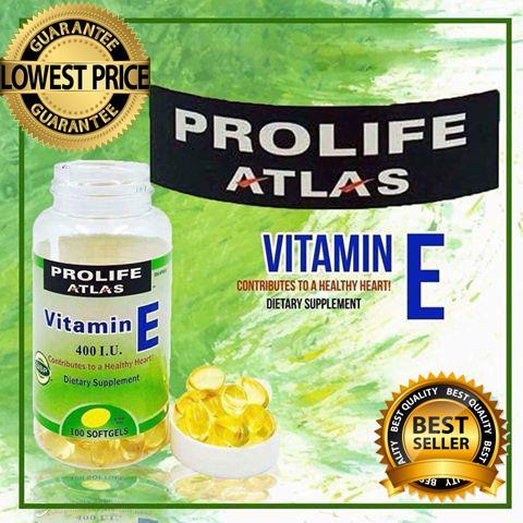 prolife atlas vitamin e 400iu 100 softgels