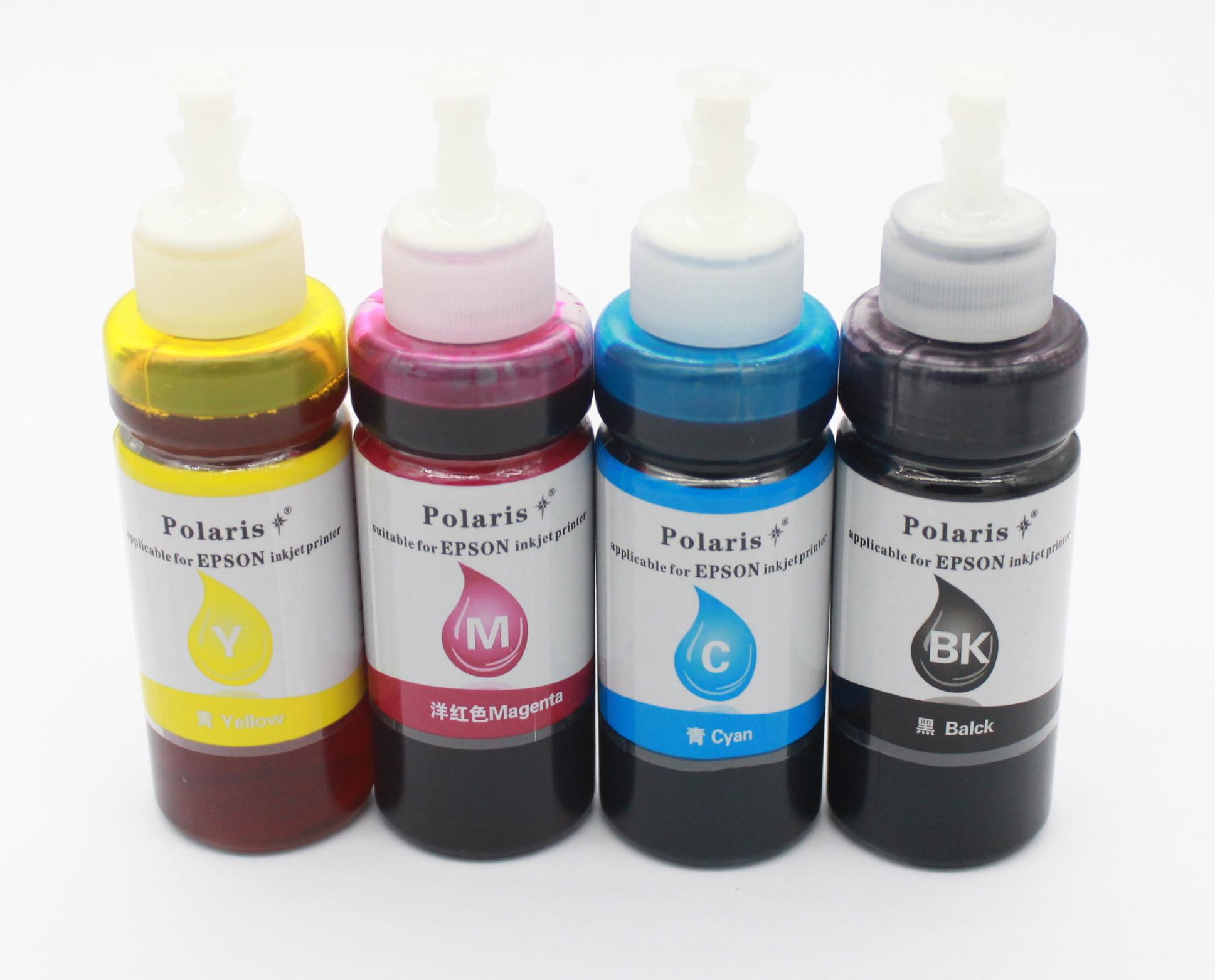 Epson Dye Ink 100ml Bottle ( Set Of 4 Black, Magenta,yellow And Cyan ) For Epson L100/l110/l120/l200/l210/l220/l300/l350/l355/l360/l361/l365/l380/l385/l455/l485/l550/l555/l565/l405/l1300 By Nellys Store.