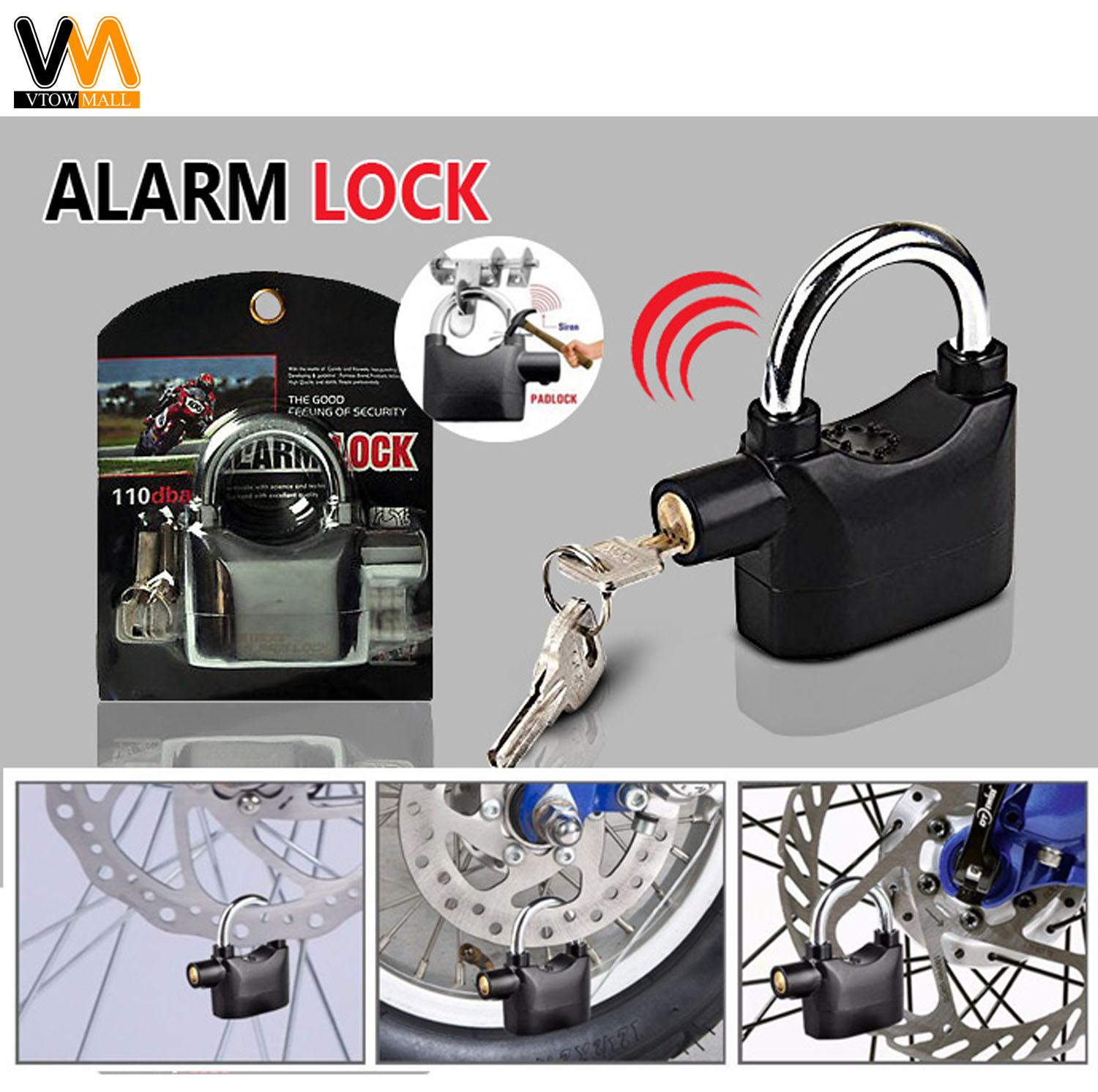 Door Lock For Sale Locks Prices Brands Review In 3 Wire Positive Trigger Schematic Of Cars Locking Systems Alarm Padlock Motor Bike Car 110db Anti Theft