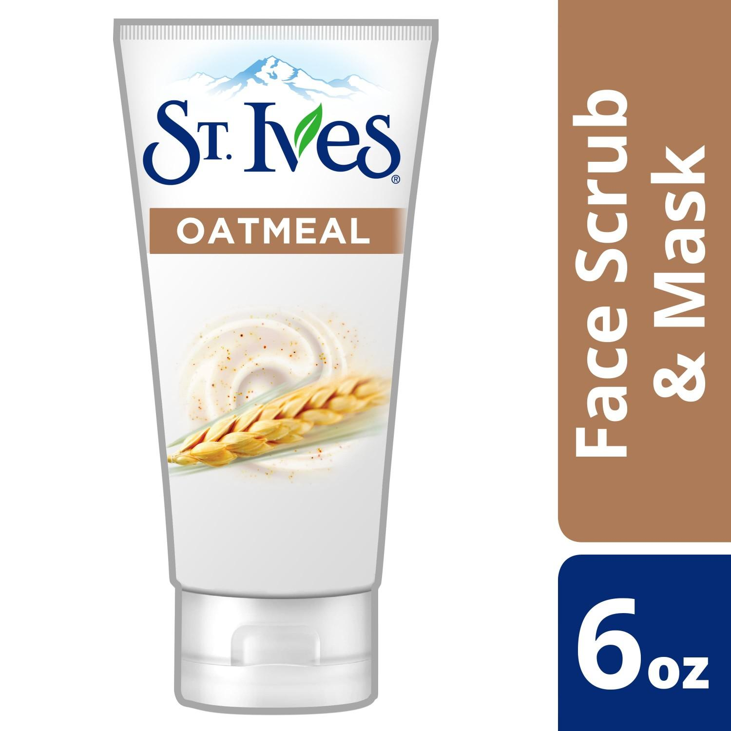 St. Ives Face Scrub Gentle Smoothing Oatmeal Scrub and Mask 6oz