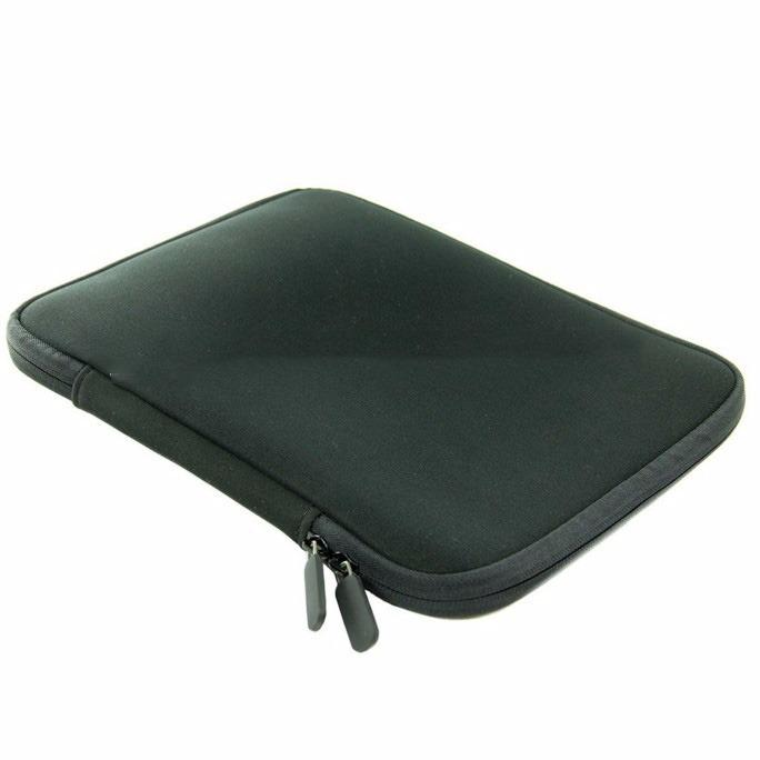 15.6 Inch Laptop Sleeve Case Bag Pouch Black With Zipper By Epower.