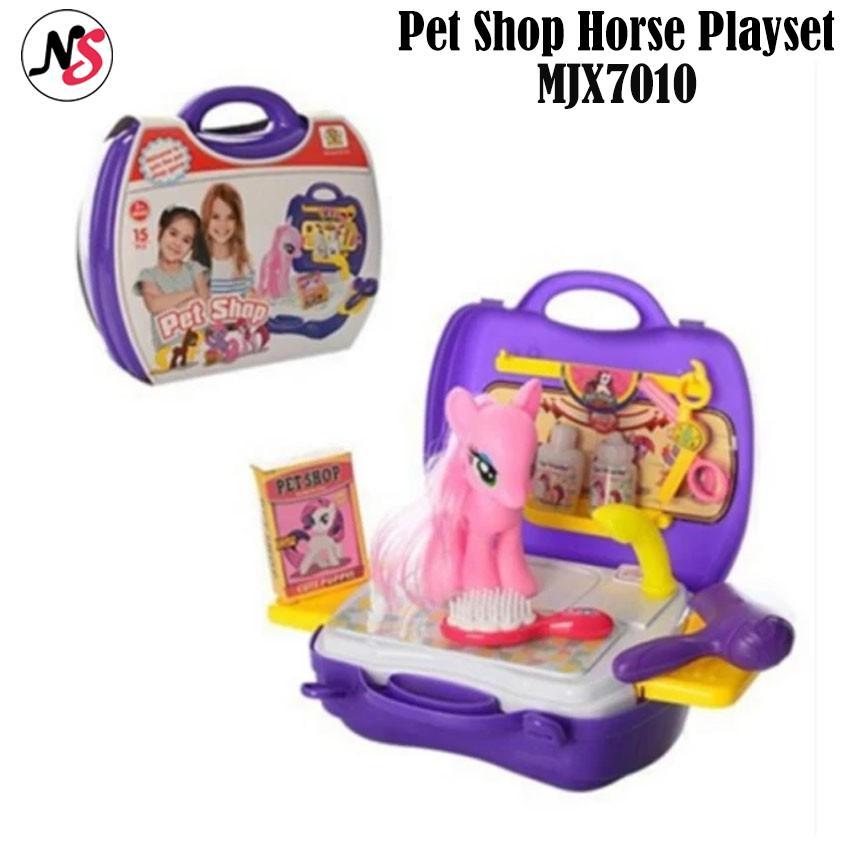 Pet Shop Horse Playset Childrens Toy Set Mjx7010 By Niushop5.