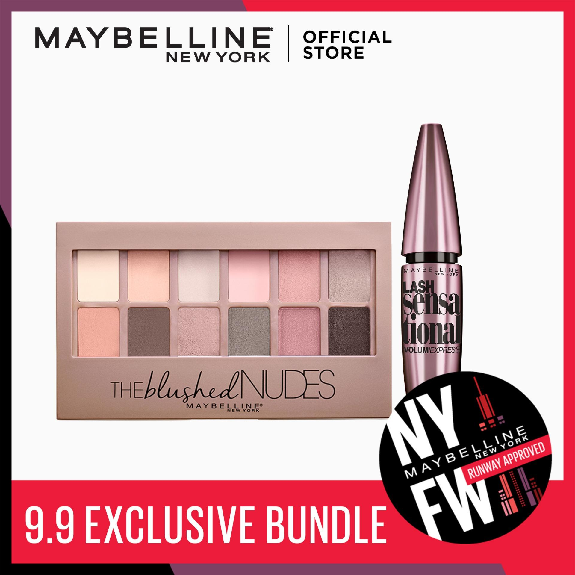 Maybelline Lash Sensational Mascara + The Blushed Nudes Eyeshadow Palette [EXCLUSIVE BUNDLE] Philippines