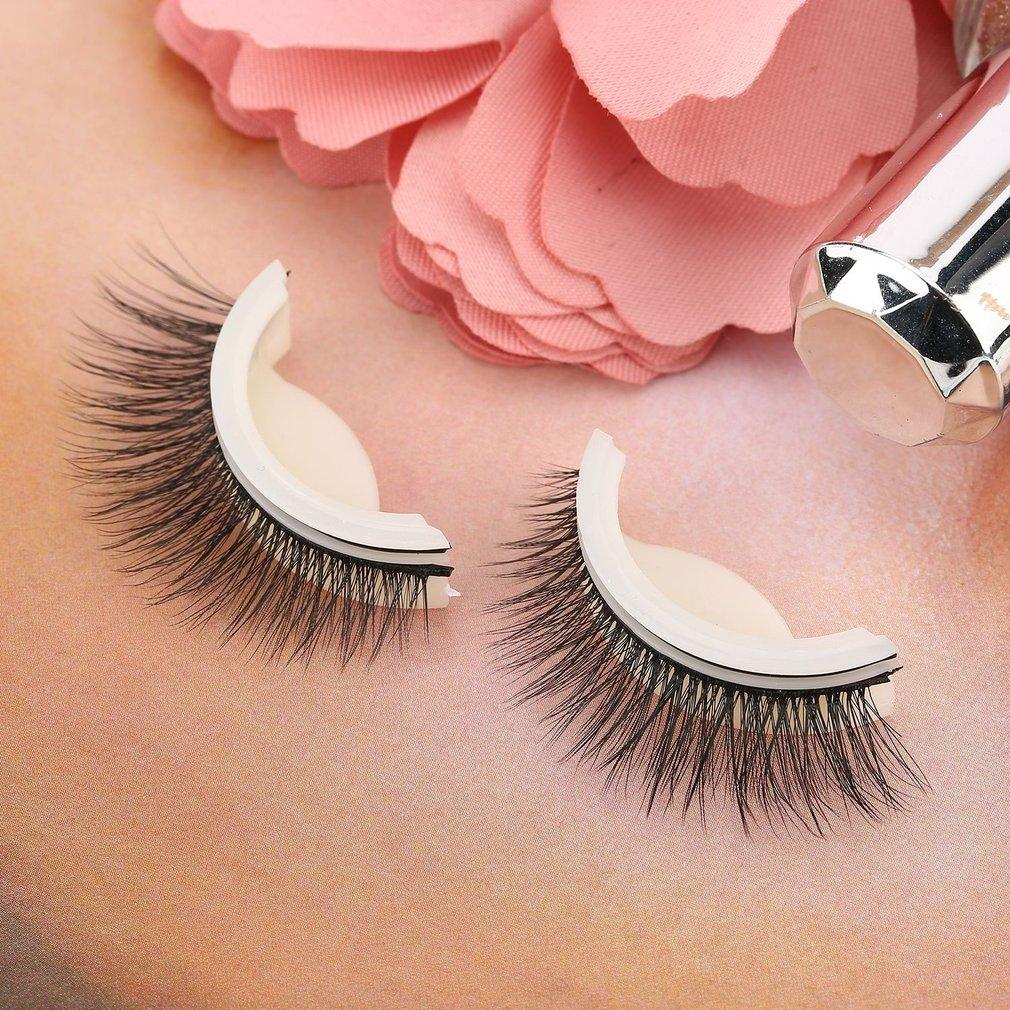 A Pair/SET Self Adhesive Curl Natural Eyelash Extension Artificial Eyelash Philippines