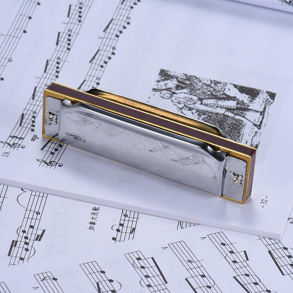 Suzuki 1072-C Folkmaster Standard 10-Hole Diatonic Harmonica Key of C 20  Tone for Beginner Student ^ - intl