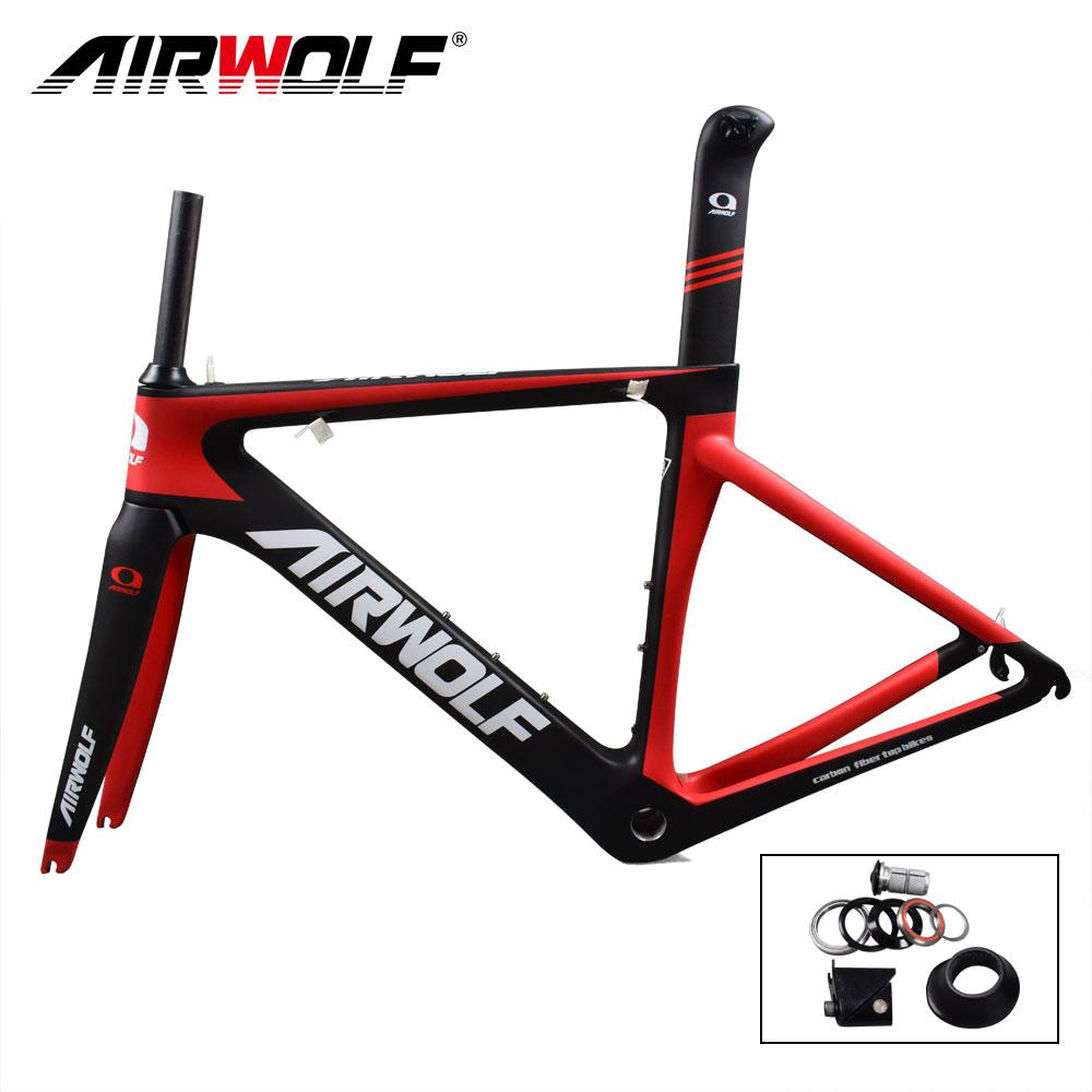 27df52217 Airwolf T800 Full Carbon Fiber Road Frame Size 48 51 54 56cm With