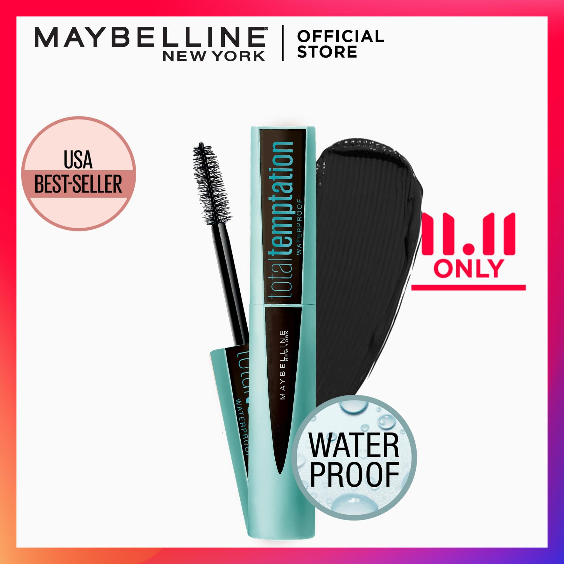 Total Temptation Waterproof Mascara by Maybelline - Very Black Philippines