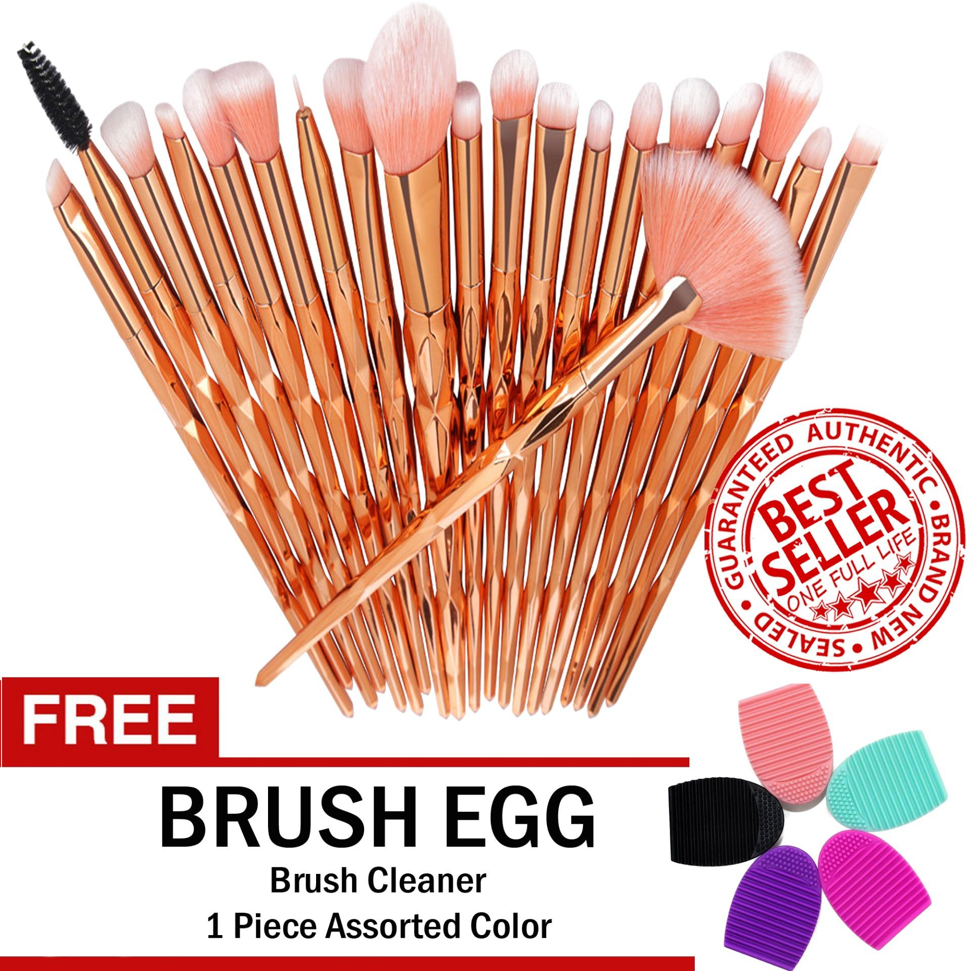 Unicorn Makeup Brush Set 20-Piece ROSE GOLD with with FREE Brush Egg Brush Cleaner Philippines