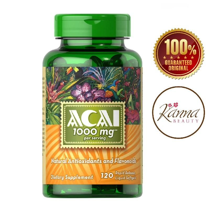 Puritans Pride Acai 1000 mg 120 softgels