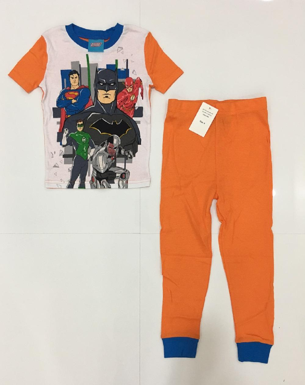 Justice League Cotton Pajama Set Of 2 By Discount Store.