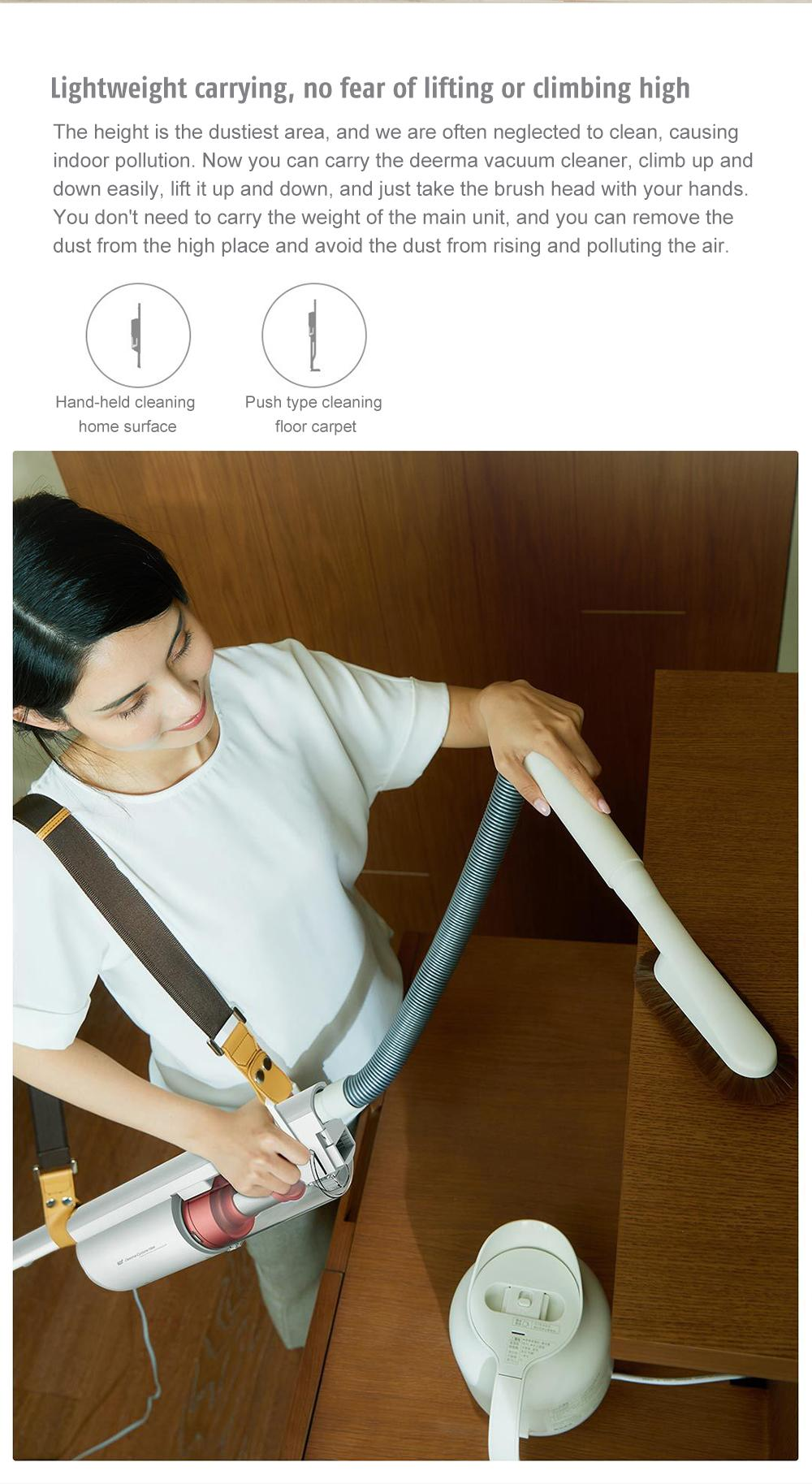 Deerma DX800S Multipurpose Double-circulation Upright Back Carrying Vacuum Cleaner