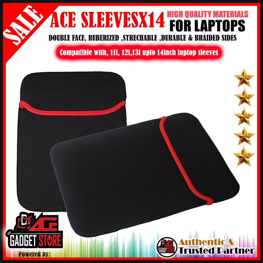 Laptop Reversible 14-Inch Laptop Sleeve, Pouch Sleeve Red By Acegadgetstoreph.