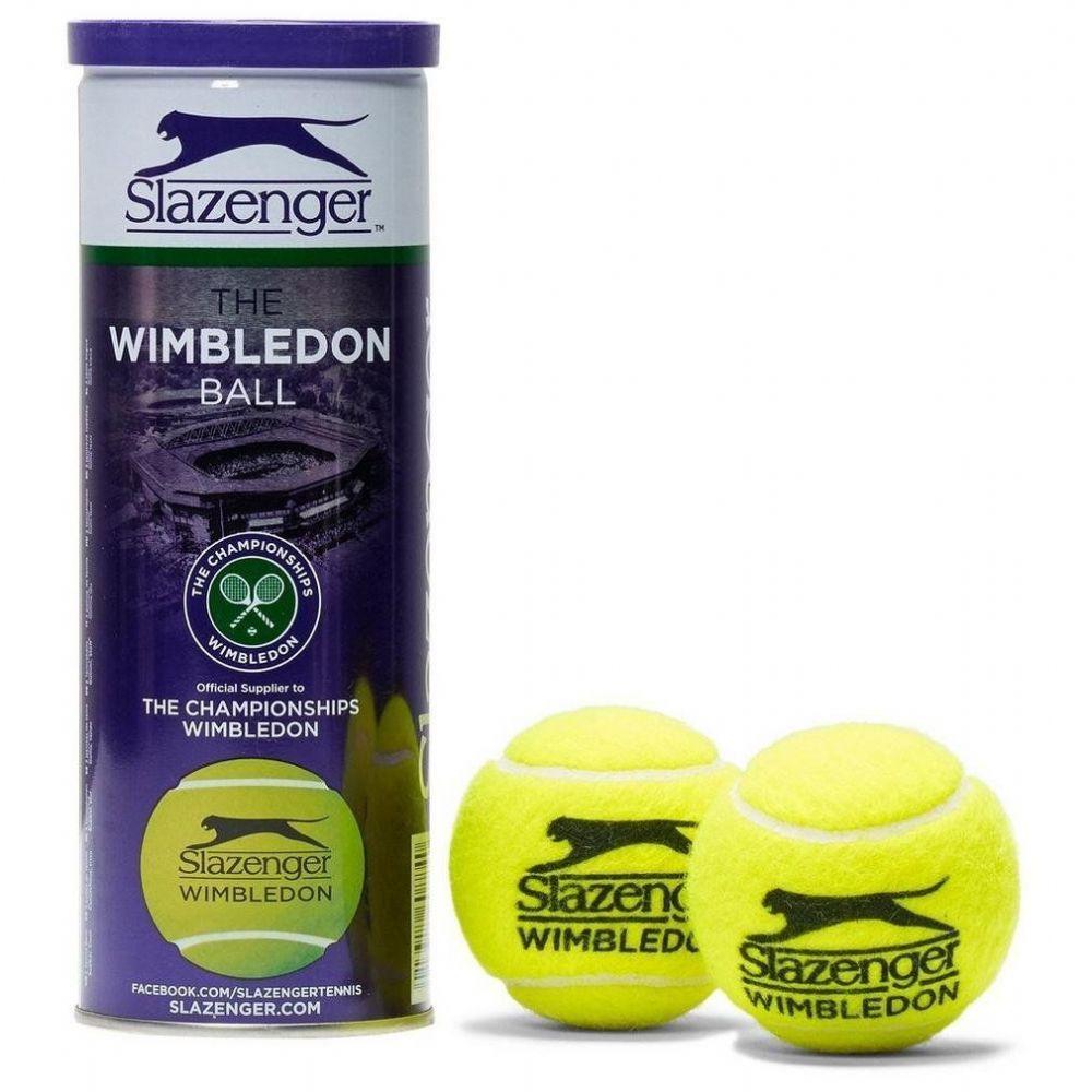 Tonys Slazenger Wimbledon Tennis Balls (3 Balls Per Tube) By Tonys Shop.