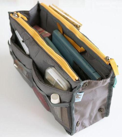 Dual Bag In Bag Organizer Dark Green Lazada Ph