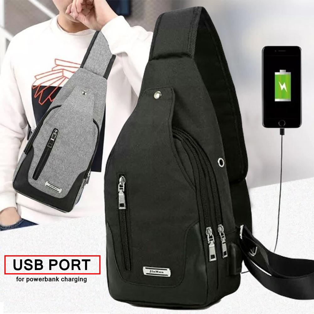 Philippines. Men s Anti Theft Tactical Chest Sling Bag with USB Port for  Powerbank bbd543d40e4d4