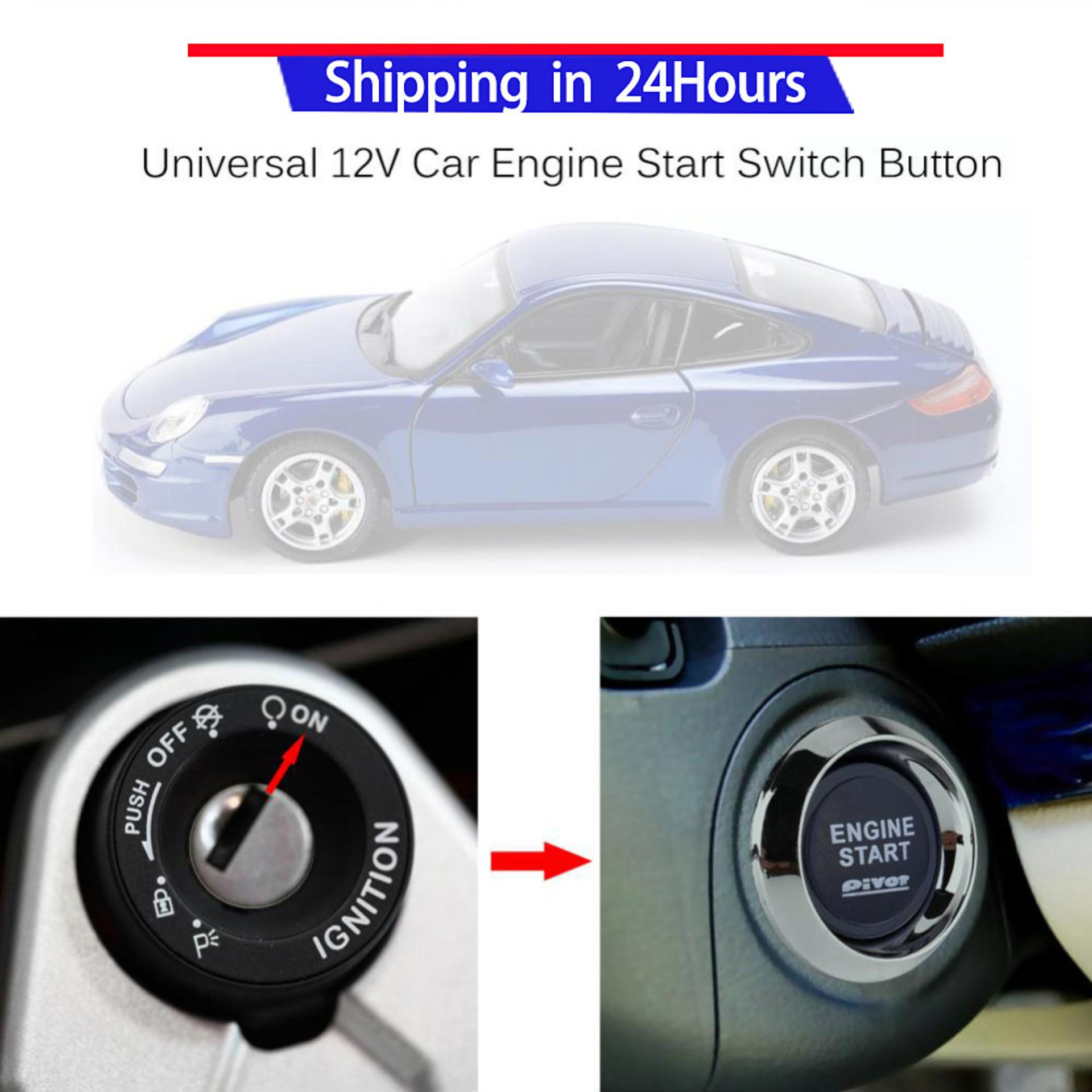Ignition System For Sale Electronic Online Brands Prices Car Circuit Capacitor Discharge Sweatbuy Universal 12v Vehicle Engine Start Push Button Switch Starter Blue Led Intl