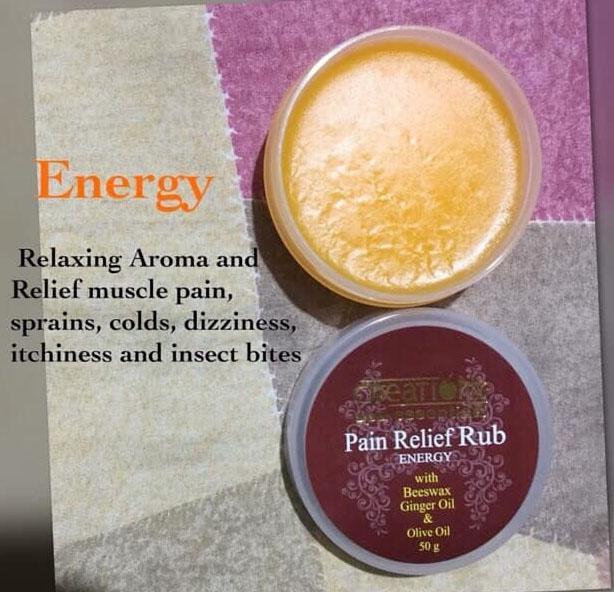 Creations Spa Essentials Pain Relief Rub - Energy (Orange)