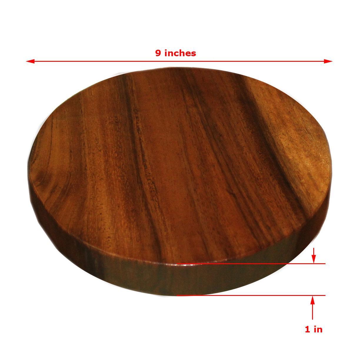 Round Pizza Board Circular Wooden Plate Chopping Board