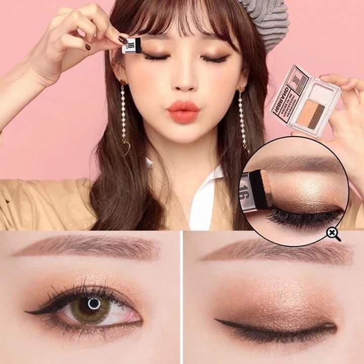 Korean Sixteen Eye Magazine Two Shades Eyeshadow Palette by 16Brand Philippines