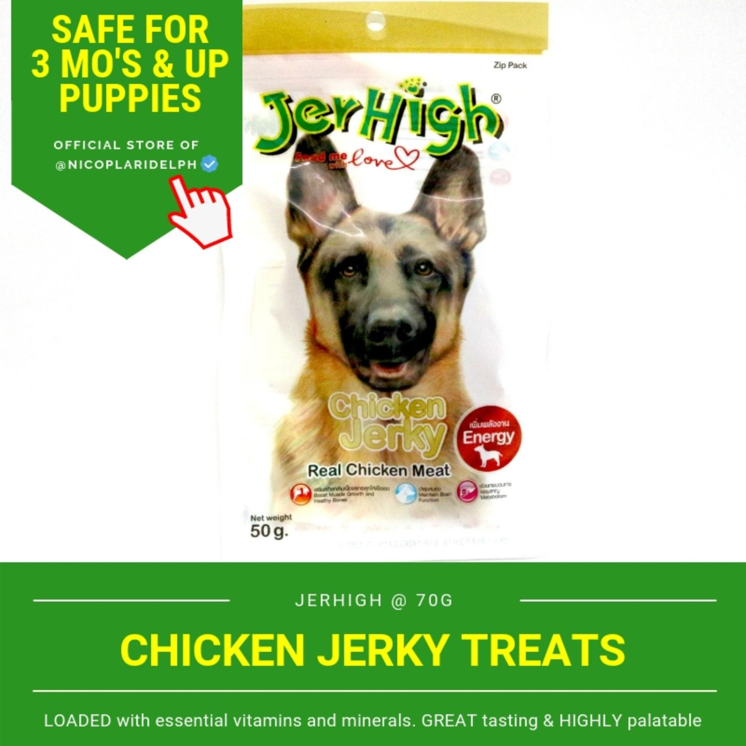 Jerhigh Chicken Jerky With Real Chicken Meat For Puppies And Adult Dogs (50g) By Nicoplaridelph.