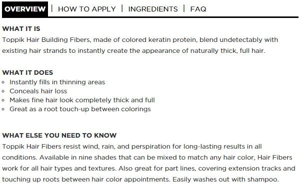 Product details of Hair Building Fibers Hair Loss Solutions Concealer 27.5g Black - intl