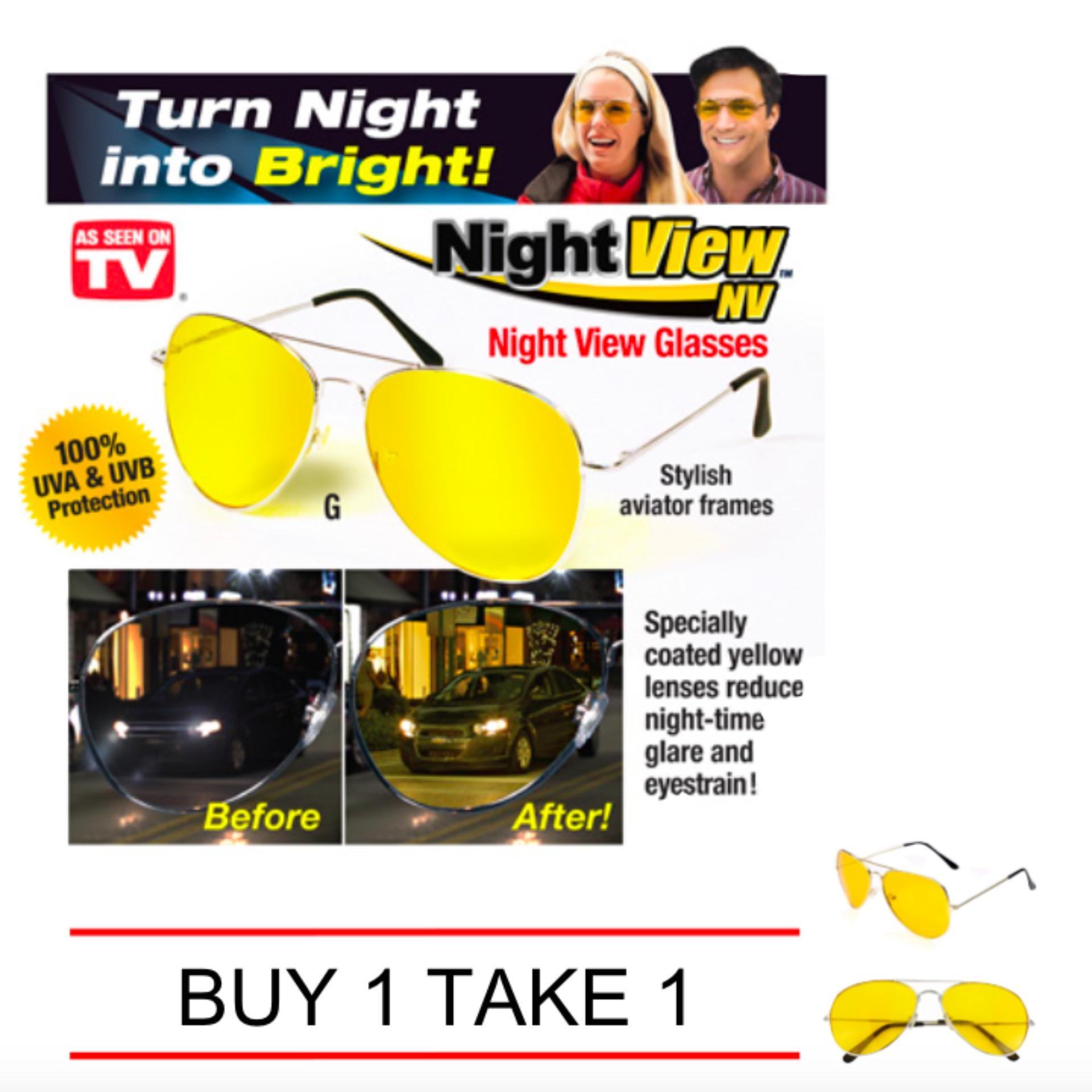 caa05cbd041 Night View NV Anti Glare Night Vision Aviator-Driving Glasses Buy 1 Take 1
