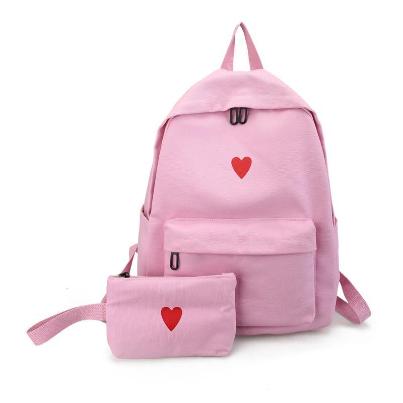 School bag bags women Korean Style Harajuku Ulzzang High School Students Hipster Backpack Canvas Simple Leisure