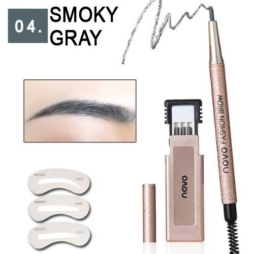NOVO EyeBrow Set Eyebrow Pencil Makeup Set With 3pcs   Eyebrow Pencil + 3pcs Eye Brows Stencil Template Waterproof   Long Lasting Make Up Philippines