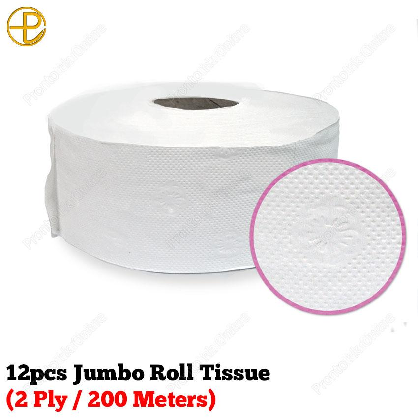 12pcs Jumbo Roll Tissue (2 Ply / 200 Meters) Philippines