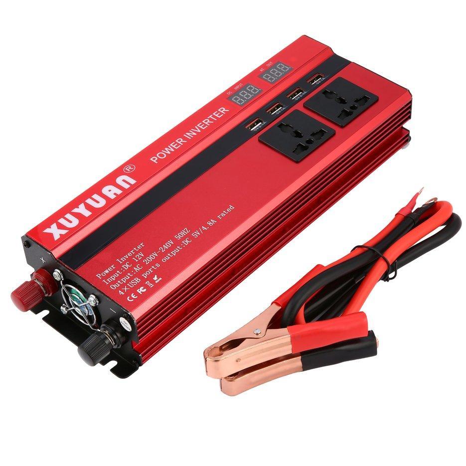 Car Inverter For Sale Power Converter Online Brands Prices Inverters 12v To 230v Wiring Diagram Wond 6000w Dc Ac 220v Led Display Sine Wave Red