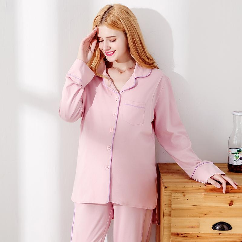 e3f11e2736 TWOMOM Pregnant Women Home Service Confinement Clothing Autumn   Winter  Long Sleeve Lactation Pajamas Spring And