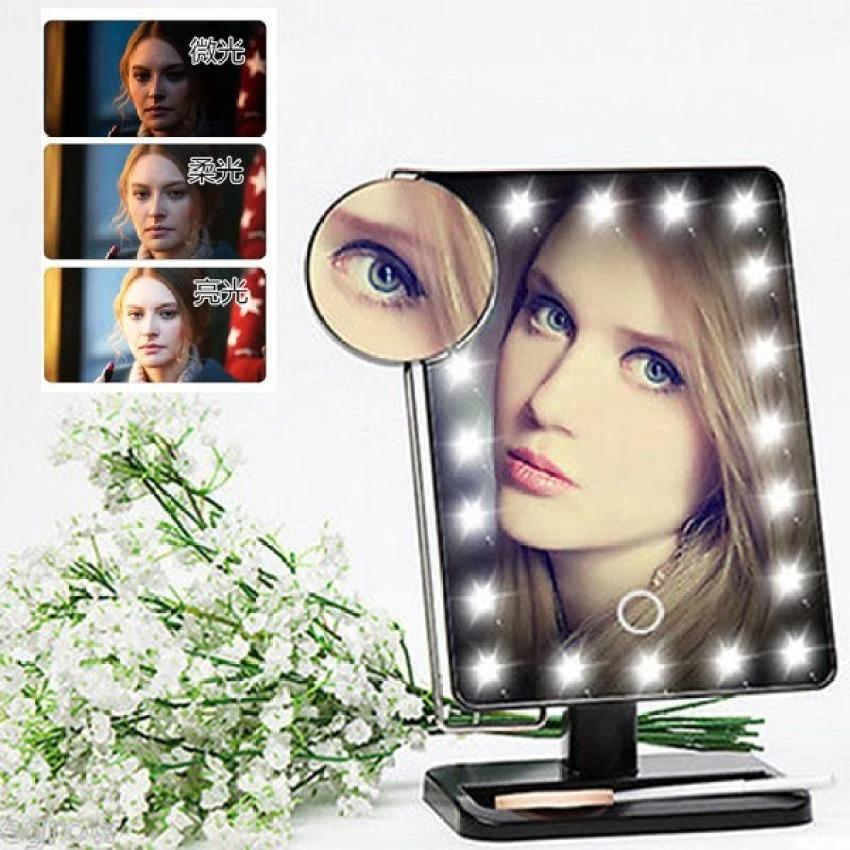 Adustable Large LED Mirror Makeup Desktop With Lights Philippines