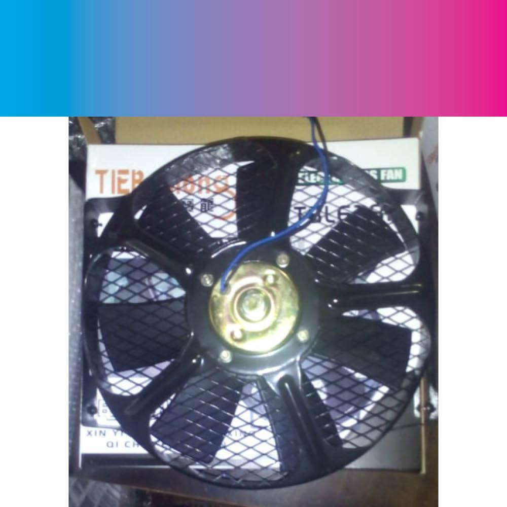 Aux Fan Assembly, Double Bearing , Universal, Condenser Or Radiator Fan 12v By Cabalen Auto Aircon.