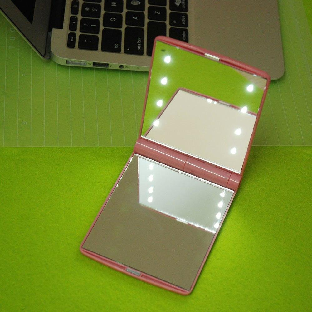 JBox# 8 LED Vanity Mirror Compact Portable Cosmetic Mini Makeup Mirror Philippines