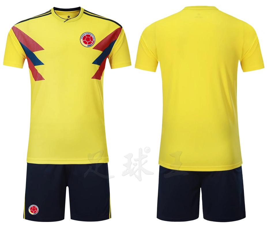 691997544 1 Pc lot Colombia Jersey 2018 World Cup Colombia National Team Football  Jersey T