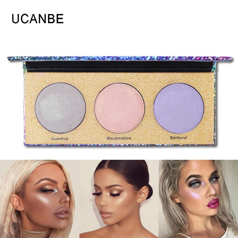 UCANBE Laser Chameleon Eyeshadow Makeup Palette Shimmer Hologaphic Polarization Highlighter Bronzing Glow Kit Cosmetics Philippines