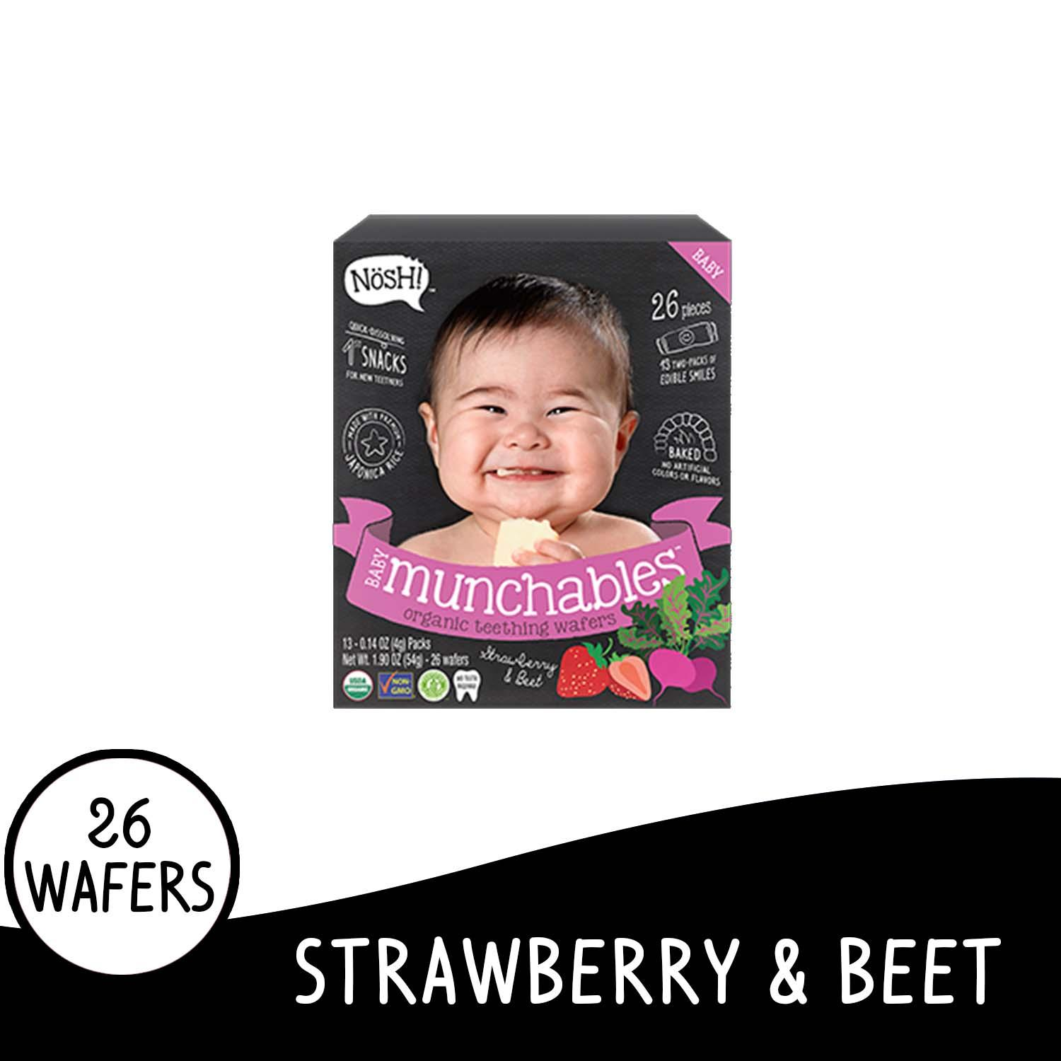 Nosh Baby Munchables Strawberry Beet By Nosh Baby Ph.