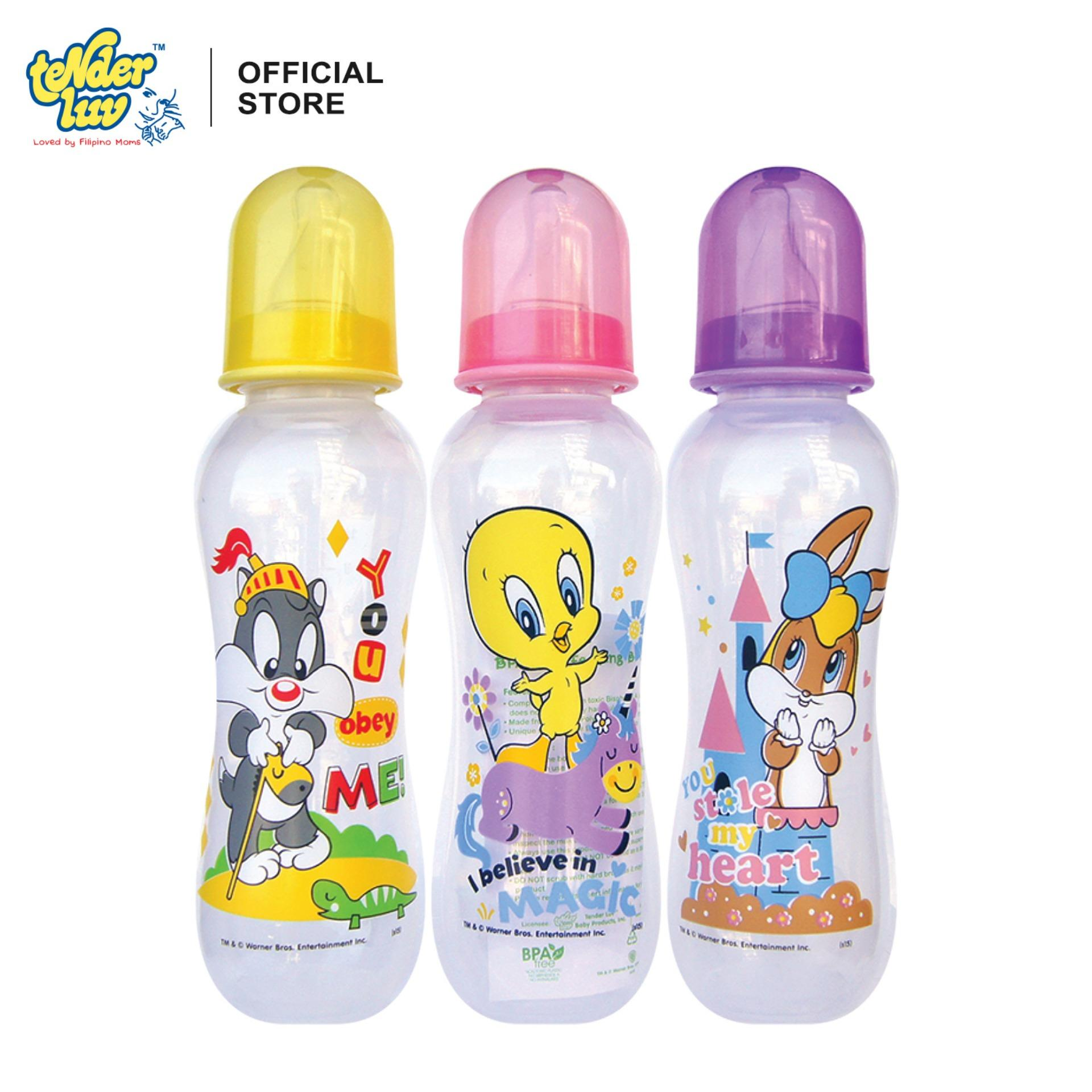 Baby Looney Tunes 12oz Standard Feeding Bottles (set Of 3) By Tender Luv.