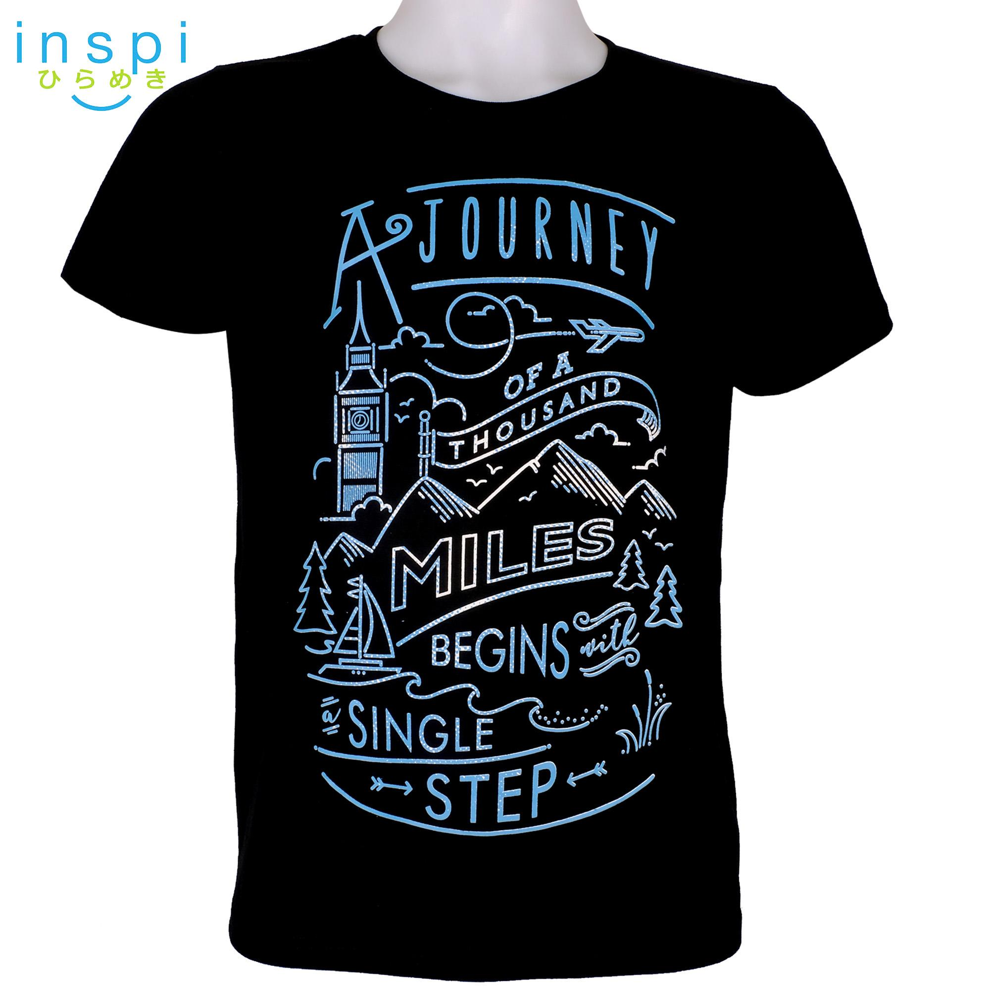 INSPI Tees Journey (Black) tshirt printed graphic tee Mens t shirt shirts for men