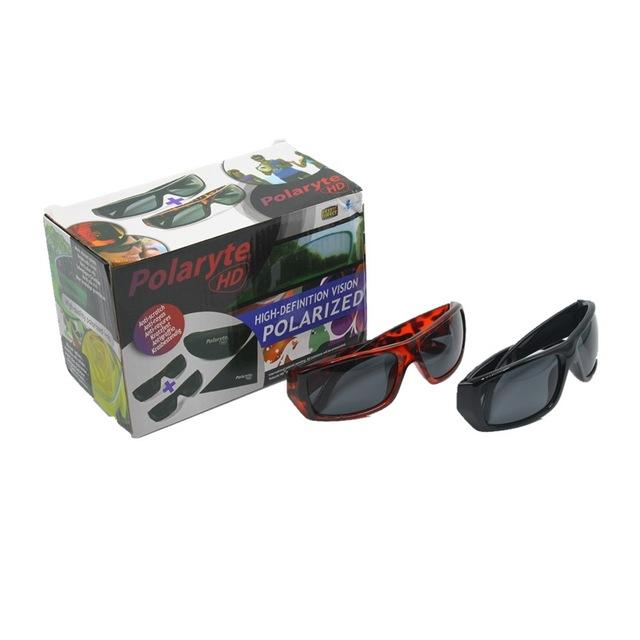 f145966abc 2 in 1 SET Polaryte HD anti-glare outdoor sports magnetic sunglasses  driving goggles