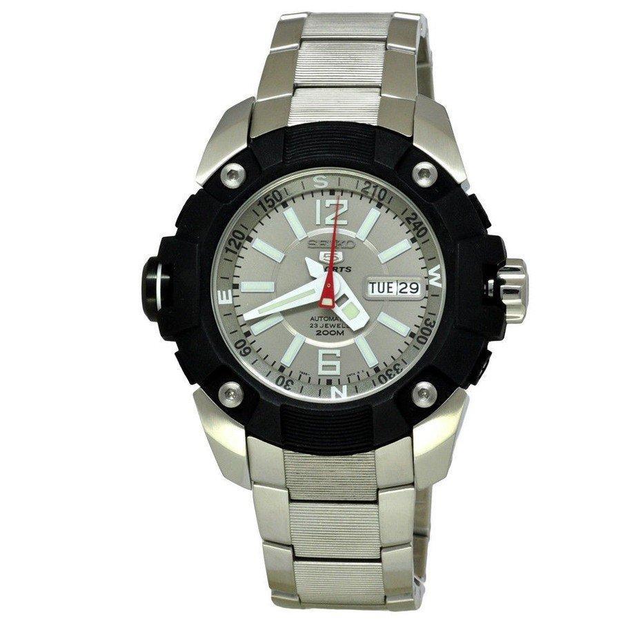 Seiko 5 Sports Pro Diver's Men's Grey Dial Stainless Strap Watch SKZ259K1